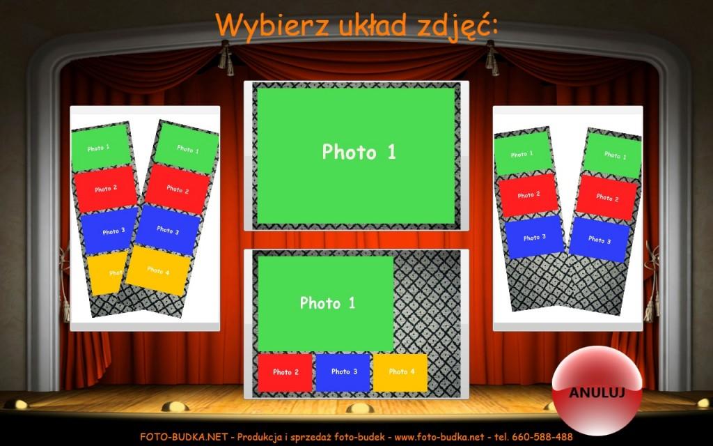 Układy zdjęć z fotobudki